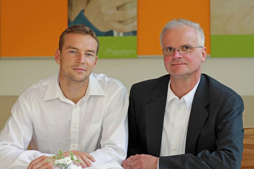 Stefan Specht (links) und Bolko Bouché, Fotograf und Texter.